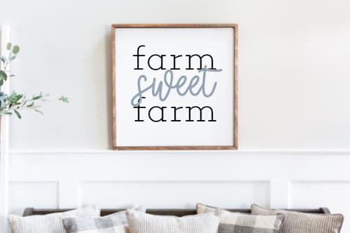 Farm Sweet Farm Cut File, SVG, EPS, PNG, JPG, DXF design