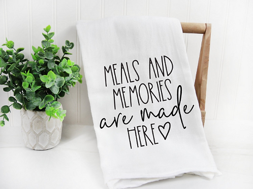 Meals and Memories are made here svg, Farm svg, Funny Tea Towel, Decorative Kitc