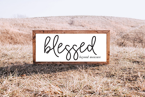 Blessed Beyond Measure, Blessed Sign, 5 Cut files