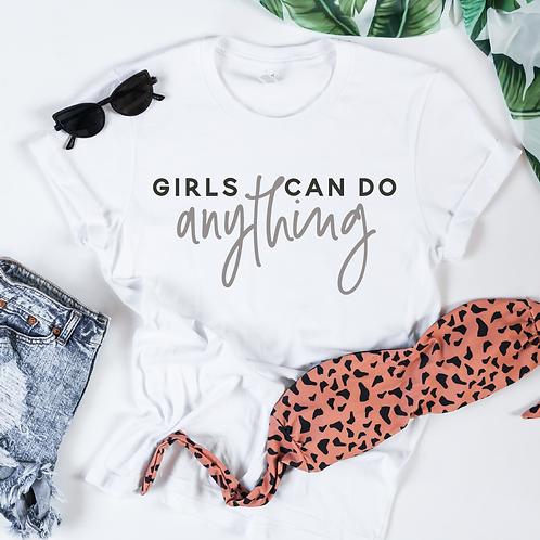 Girls Can Do Anything svg, Feminist svg, #momlife, Mom shirt, Mommy shirt, New M