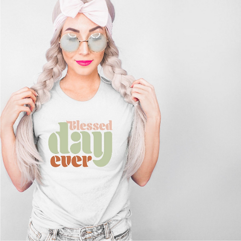Blessed day ever svg, Vintage svg, Retro svg,  Mom shirt, New Mom shirt, Baby sh