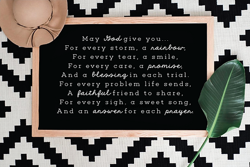 Irish Blessing svg , May God give you Prayer, 5 Cut Files