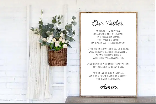 Our Father, Scripture Cut Files, The Lord's Prayer