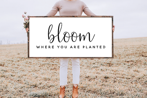 Bloom where you are planted, Modern Family sign, 5 cut files