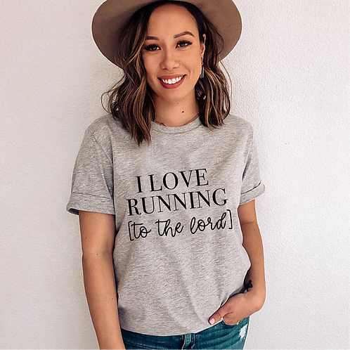 I love running [to the Lord] SVG, EPS, PNG, JPG, DXF design
