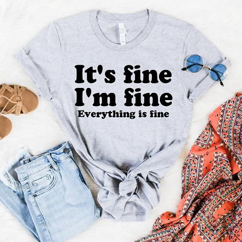 It's fine I'm fine everything is fine svg, Feeling Fine design, How you feelin S