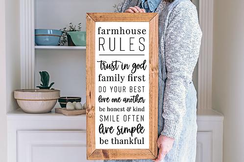 Farmhouse Rules, Farmhouse quote, House Quote, 5 Cut Files