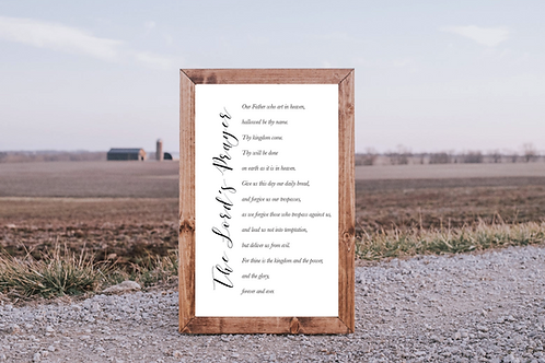 The Lord's Prayer svg , Our Father Prayer, 5 Cut Files