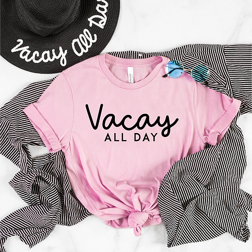 Vacay All Day SVG, EPS, PNG, Free Bird Design for mugs, crafts, tshirts and