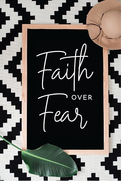 Faith over fear svg, Faith svg, Jesus svg, God svg, Religious svg, Religion svg,