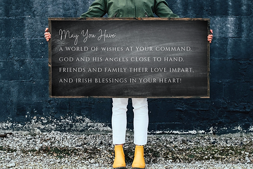 Irish Blessing svg, May the Have a world of wishes Cut Files
