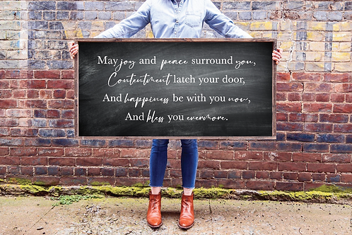 May joy and peace surround you, 5 Cut Files SVG, PNG, DXF, JPG, EPS