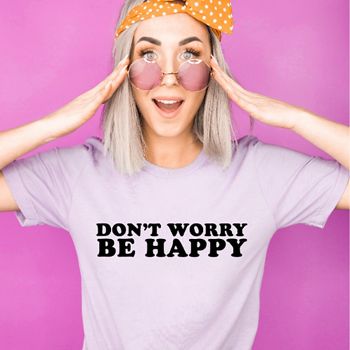 Don't worry be happy svg - Positivity svg - Cute svg- Radiate Positivity svg - P