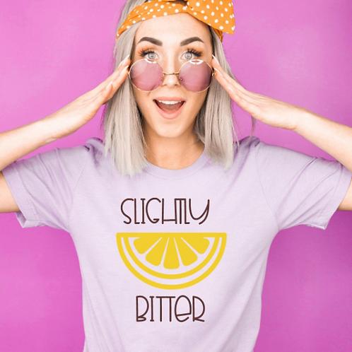 Slightly Bitter svg shirt design, Lemon svg, Lemon svg t-shirt design, Lemon svg
