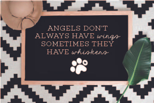 Angels don't always have wings sometimes they have whiskers 5 cut Files