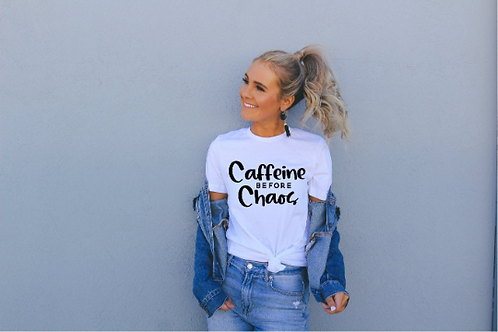 Caffeine Before Chaos svg, #momlife, Mom shirt, Mommy shirt, New Mom shirt, Baby