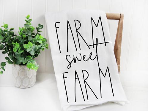 Farm sweet Farm svg, Tea Towel svg, Funny Tea Towel,  Decorative Kitchen Towels,