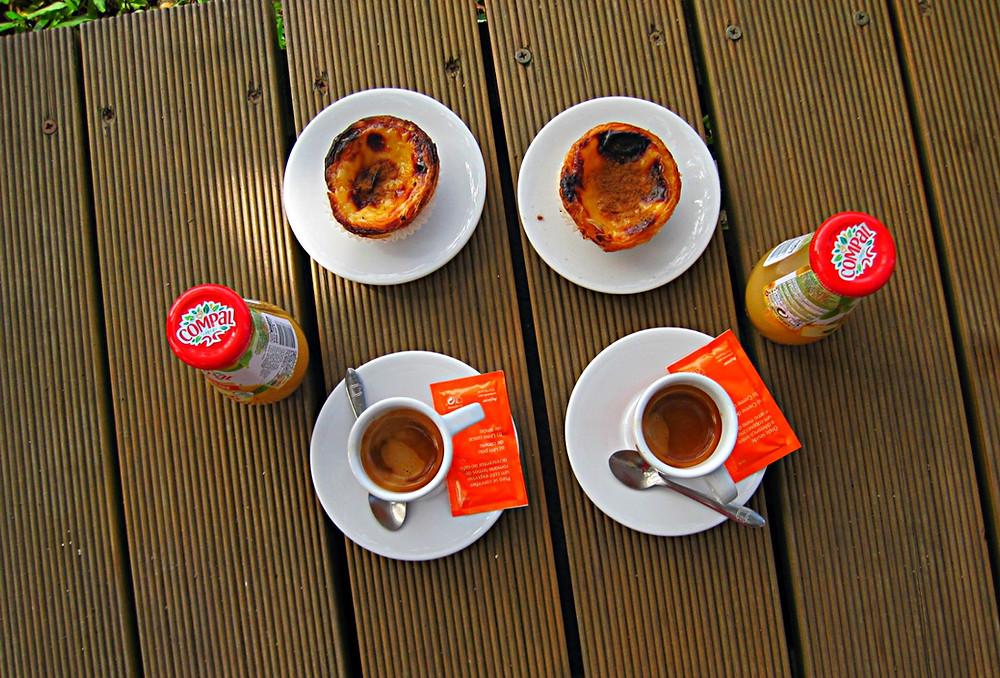 Pilgrim's treat on the Camino de Santiago, Rubiaes, Portugal