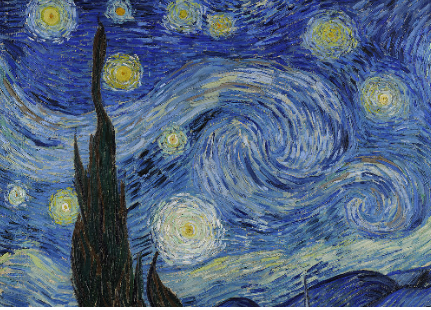detail from Starry night - Vincent van Gogh