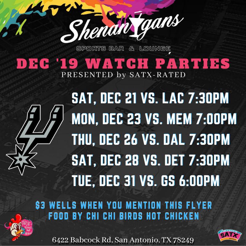 Spurs Watch Parties