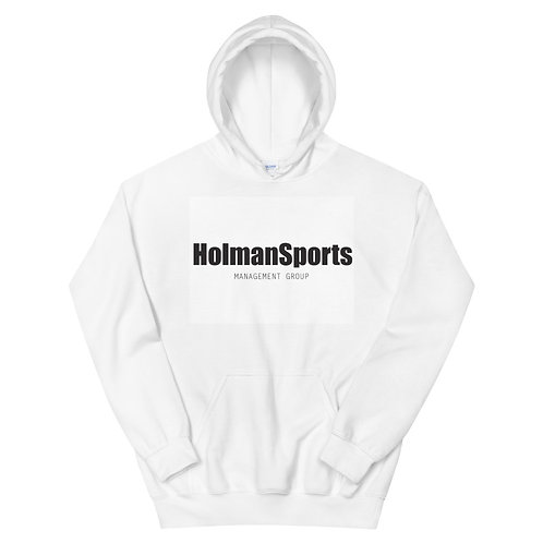 Holman Sports - White Unisex Hoodie