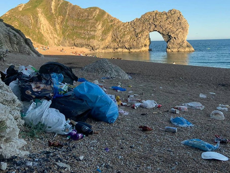 Durdle Door left as dumping ground