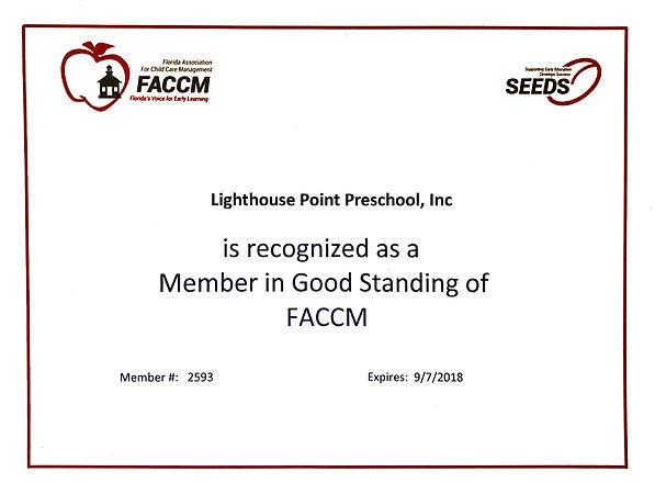 FACCM in Child Care, Preschool and VPK