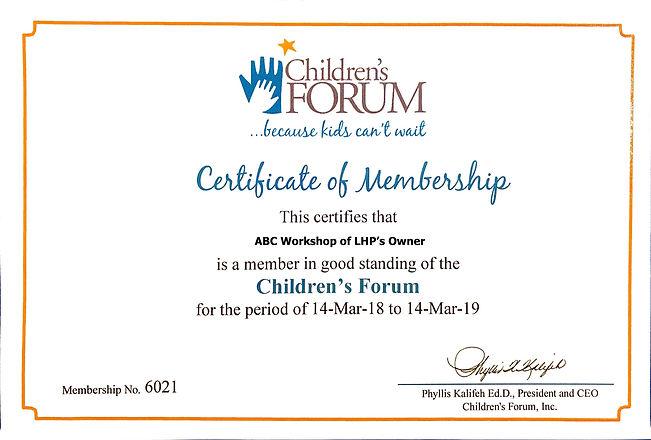 Children's Forum for Preschool and VPK