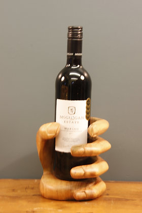 Lovely Carved Wooden Hand to Hold a Candle or Bottle of Wine!
