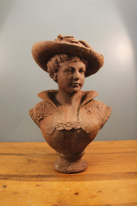 VERY Heavy Solid Metal Bust of a Victorian Lady.