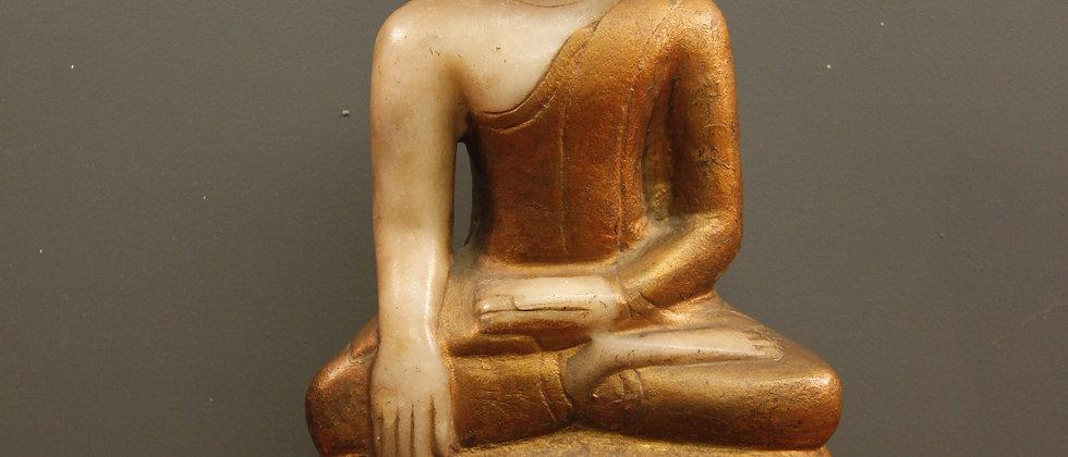 Lovely Burmese Buddha. Paint on lovely Alabaster stone.