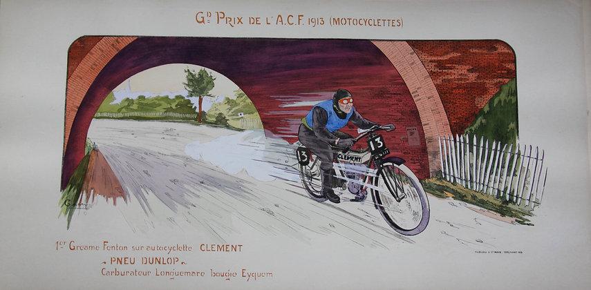 Gamy and Montaut. c1910. Motorbikes. Pochoir