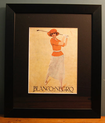 Blanco Y Negro. Original Spanish 1920's (Golf)