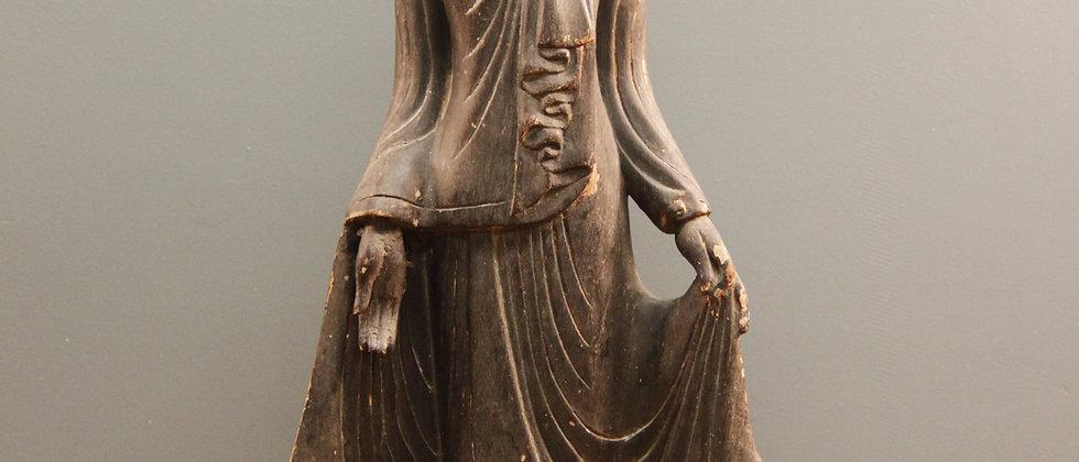 Wooden Buddha.