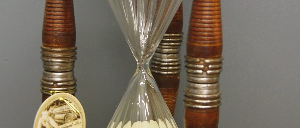 Hour Glass made from Vintage Bobbins.