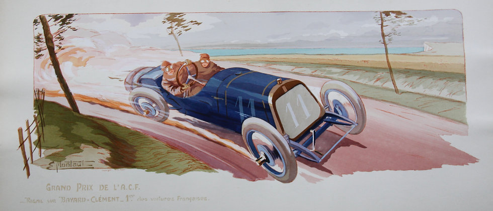 Gamy and Montaut. c1910. Cars Part 1. Pochoir