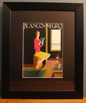 Blanco Y Negro. Original Spanish 1920's Print (Reading)