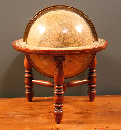 Terrestrial Table Globe After Joslin's 6 Inch Globe. Mid 20th Century.