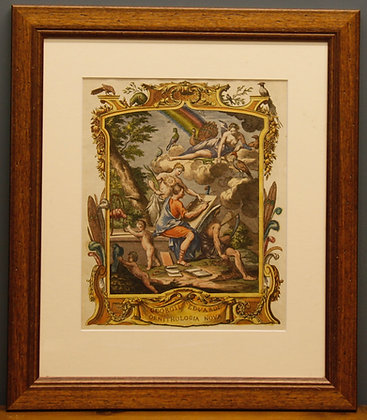 Framed Edwards Frontice Piece Mythical Scene