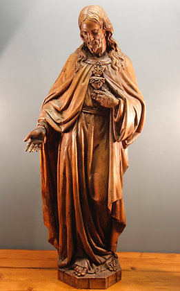 Large Figure of Jesus Christ. Wooden, Beautifully Carved.