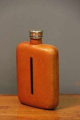 Vintage Glass and Leather Flask