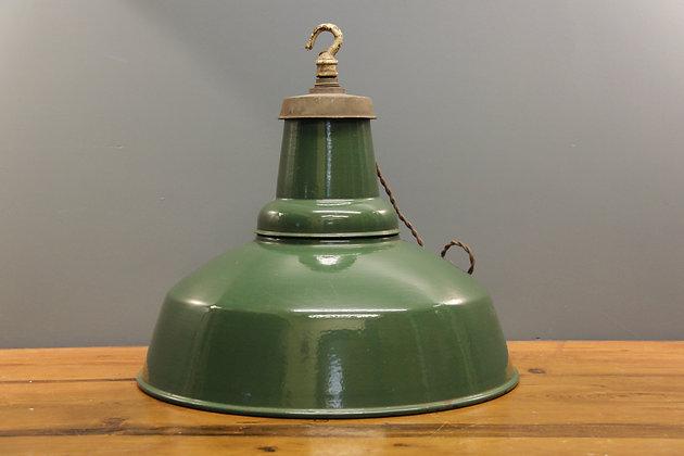 Lovely Green Industrial Light c1950.