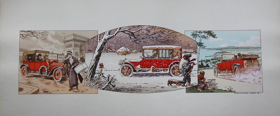 Gamy and Montaut. c1910. Cars Part 3. Pochoir