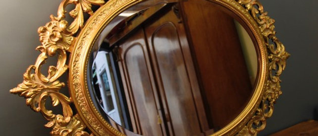Gorgeous Bevelled Decorative Gilt Mirror
