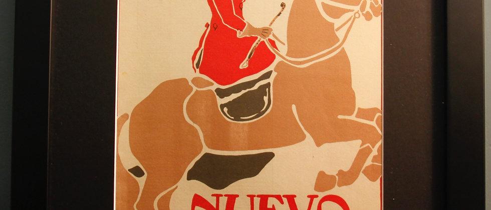 Nuevo Mundo. Original Spanish 1920's Print. (Horse Riding)