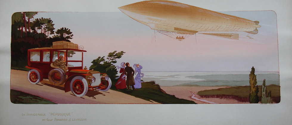 Gamy and Montaut. c1910. Airships. Pochoir.