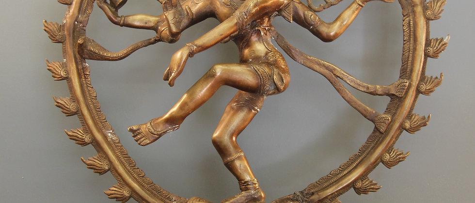 Shiva Hindu God Lord of Dance Nataraja in Brass