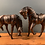 Thumbnail: Pair of Leather Horses