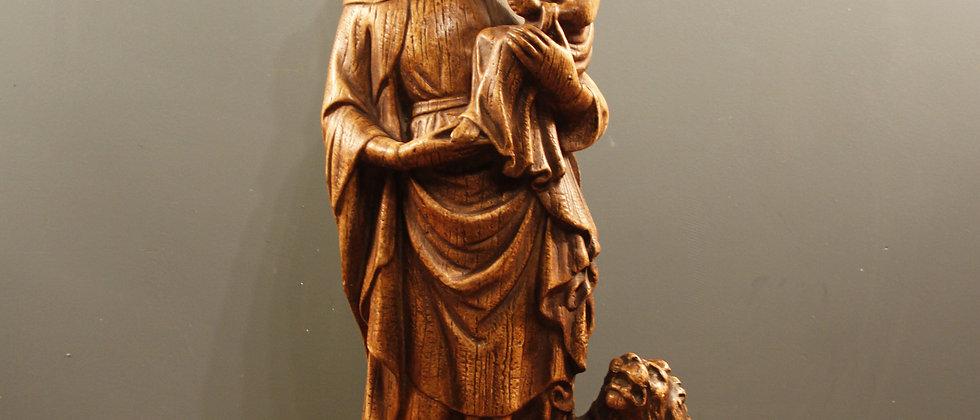Ceramic Mary and Child (looks like wood)
