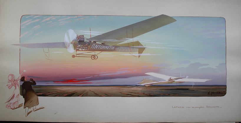 Gamy and Montaut c1910. Single Winged Planes, Pochoir.